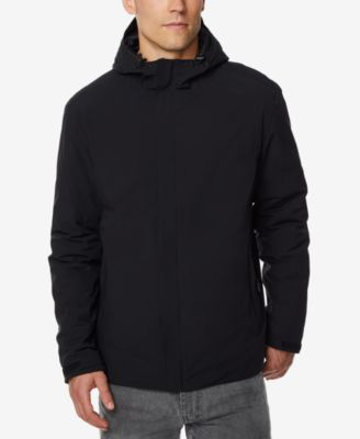 Hooded rain jacket men